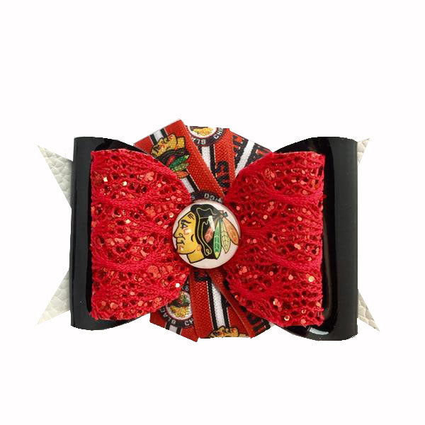 Chicago Blackhawks Hair bow Clip