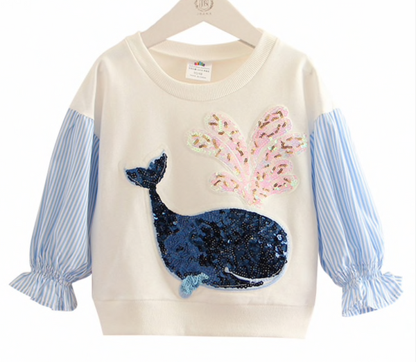 Sequin Whale Sweatshirt