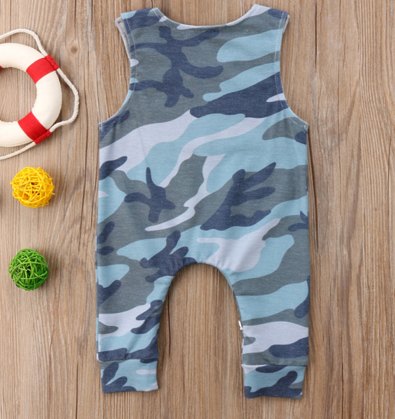 Blue Camo Romper - Apollo & Wynn