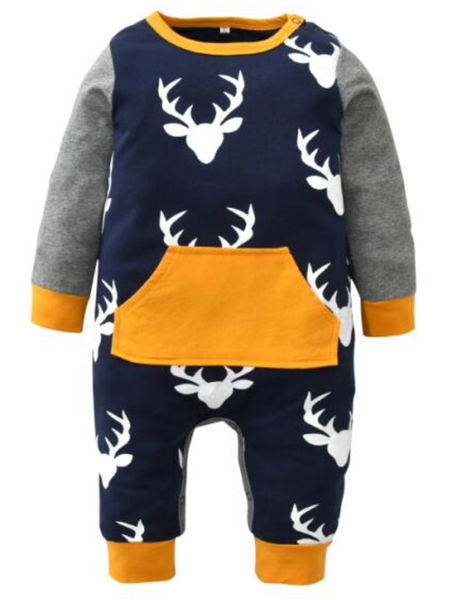 Deer Printed Romper - Apollo & Wynn
