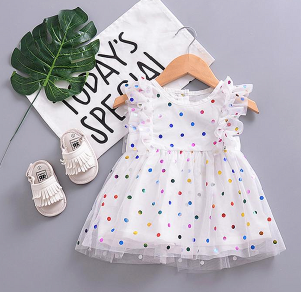 Polka Dot Ruffle Dress - Apollo & Wynn