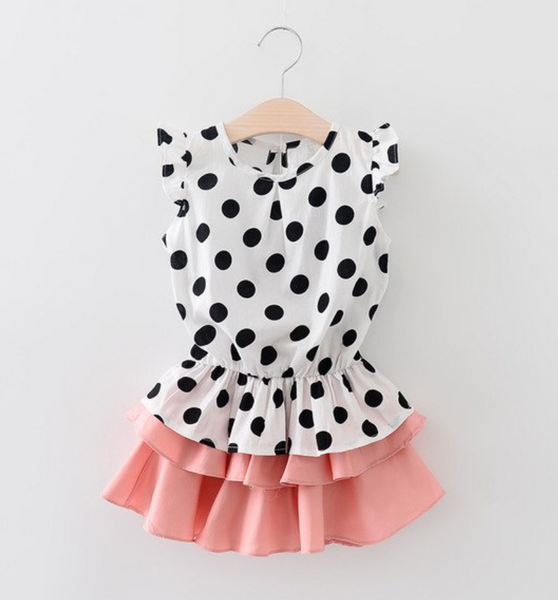 Polka Dot Shirt & Skirt Outfit - Apollo & Wynn