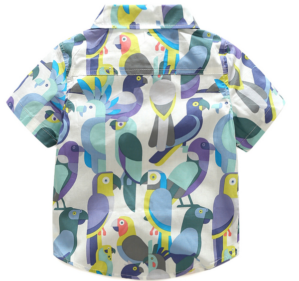 Parrot/Birds Polo & Shorts Set - Apollo & Wynn