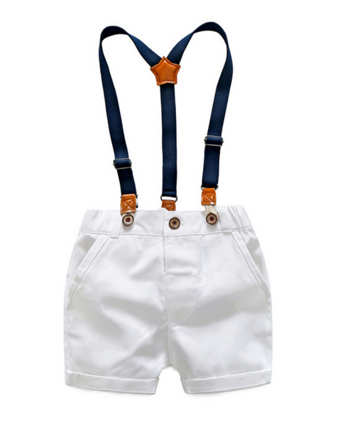Green Stripe Polo & Shorts Set - Apollo & Wynn