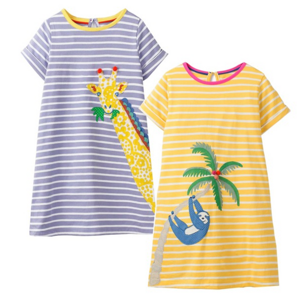 Giraffe and Sloth Dresses Set - Apollo & Wynn