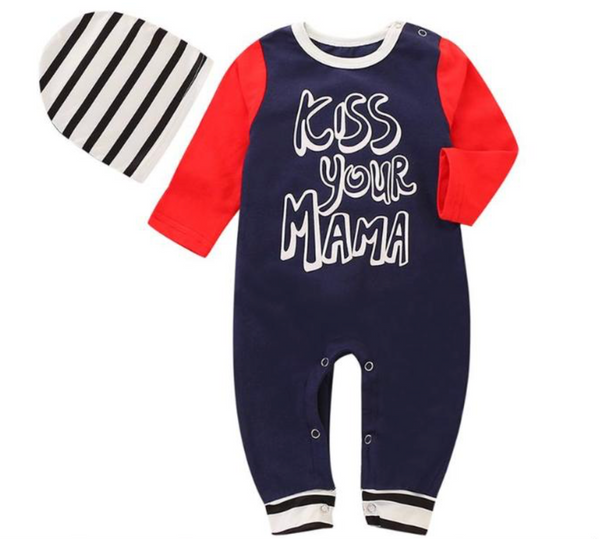 Kiss your Mama Romper - Apollo & Wynn