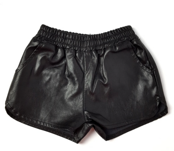 Faux Leather Shorts - Apollo & Wynn