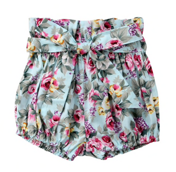 High Waist Shorts with Bow