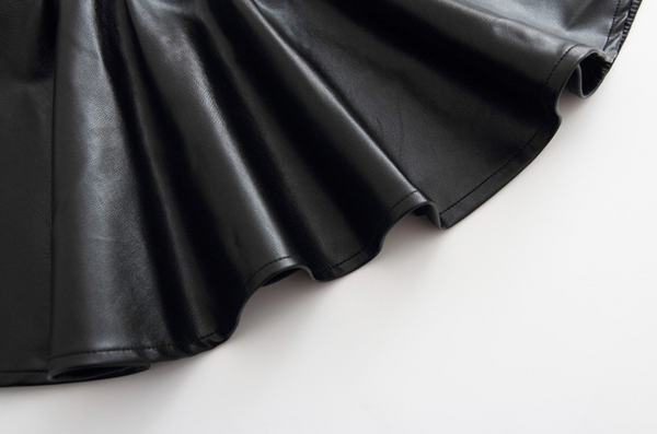 Black Faux Leather Skirt - Apollo & Wynn