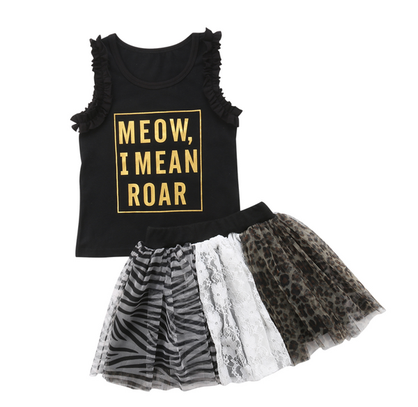 Meow I mean Roar Tutu Outfit - Apollo & Wynn