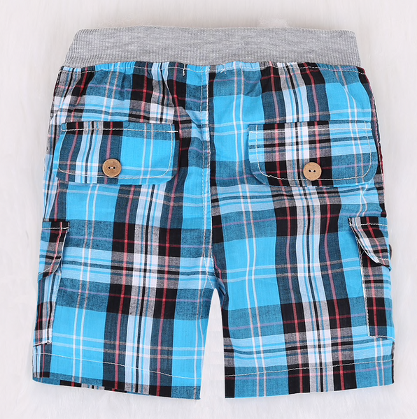 Tie T-shirt + Plaid Shorts