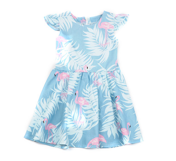 Flamingo Flutter Sleeve Dress - Apollo & Wynn