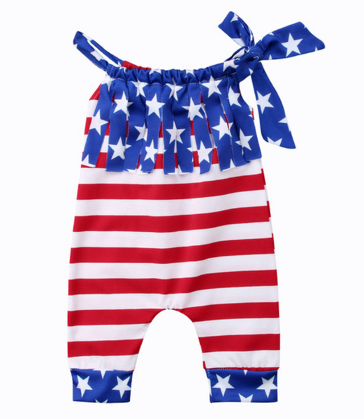 Fringe Flag Romper - Apollo & Wynn