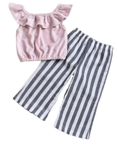 Pink Ruffle Outfit - Apollo & Wynn