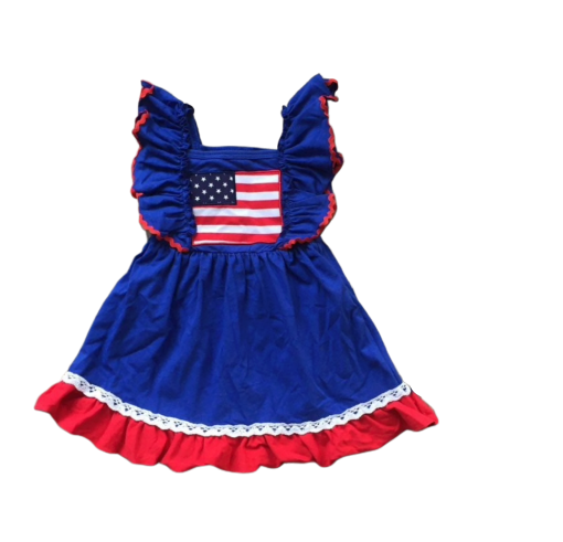 USA Flag Ruffle Dress