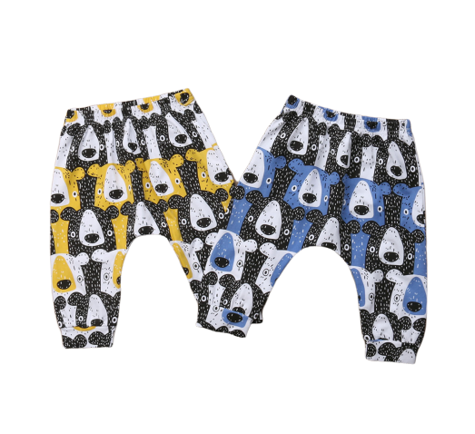 Yellow Bear Harem Pants