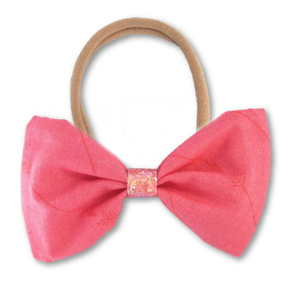 Arrow Coral Bow Headband