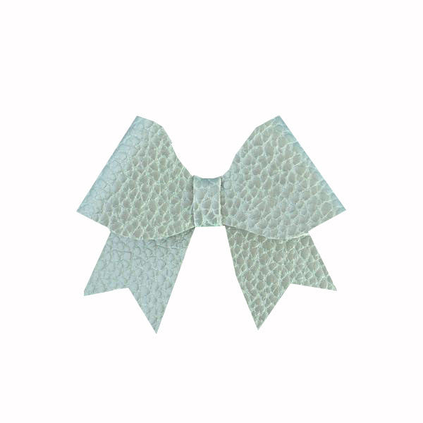 Ellie Seafoam Leatherette Bow Clip - Apollo & Wynn