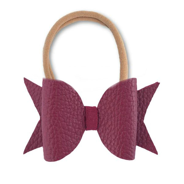 Sangria Red Leather Hair Bow Headband