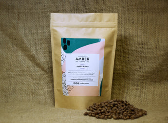 Amber Blend Coffee, freshly roasted coffee beans