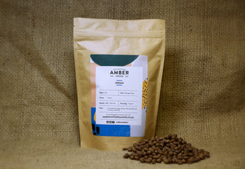 India Ratnagiri Estate Coffee, freshly roasted coffee beans