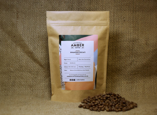 Rwanda Decaf Coffee, Freshly roasted coffee beans