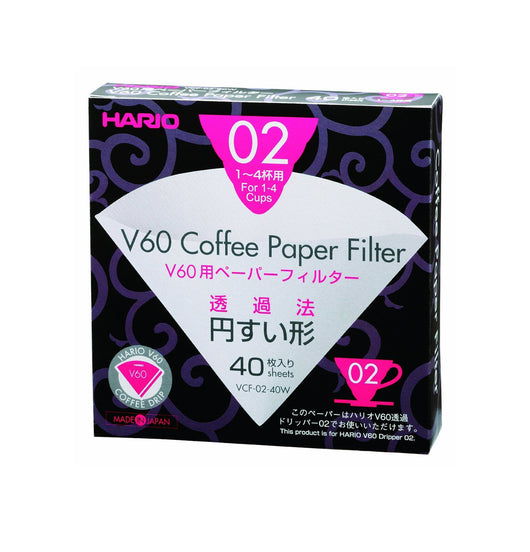 Hario V60 filter paper natural 02 dripper 40 pack