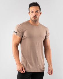 Premium Rolled Muscle Tee - Tan