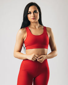 Alphalux Elite Bra - Lava Red
