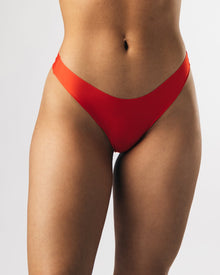 Women's Seamless Thong - Red