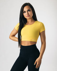 UltraSoft Crop Top - Yellow