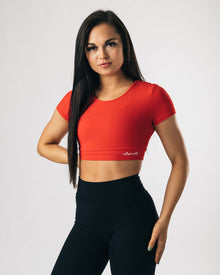 UltraSoft Crop Top - Red
