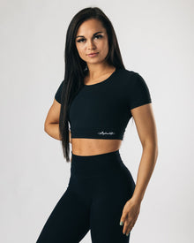 UltraSoft Crop Top - Black