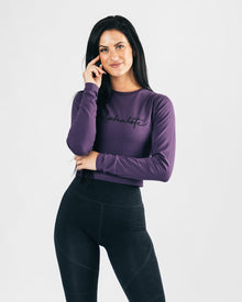 Signature Long Sleeve Crop - Purple Haze