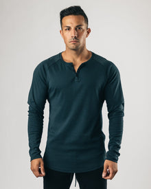 Lux Long Sleeve Henley - Deep Woods