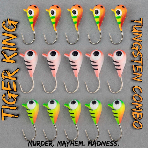 Tiger King Tungsten Combo (15 Jigs)