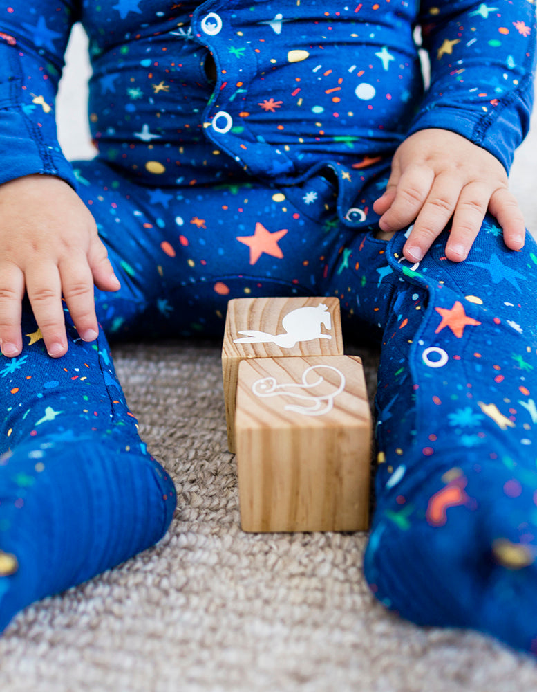 Oh Joy! x Clover Baby & Kids, Goodnight Galaxy Footie