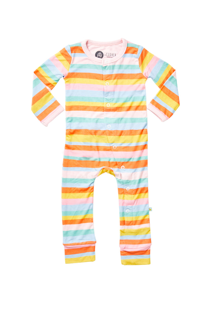 Oh Joy! x Clover Baby & Kids, Sweet Sleepy Stripes Cloverall
