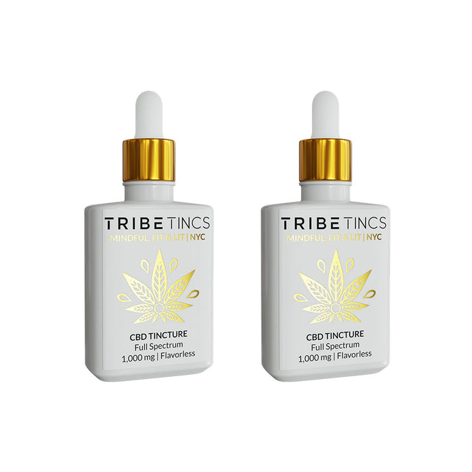 Full Spectrum CBD Tinctures Bundle | One of Each: Flavorless + Lemon 1000 MG (Save $30)