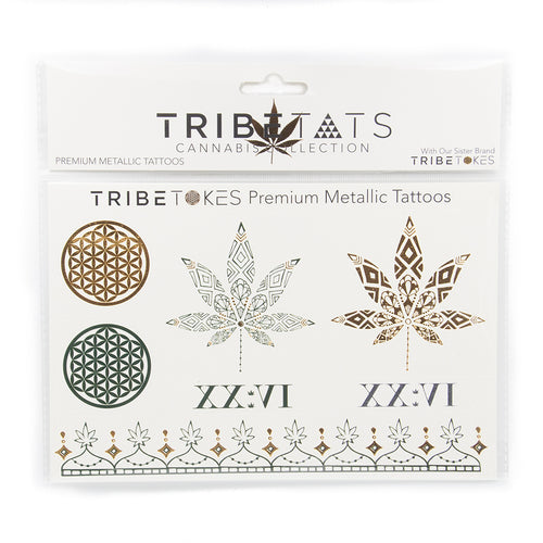 TribeTats Metallic Tattoos | Cannabis Collection