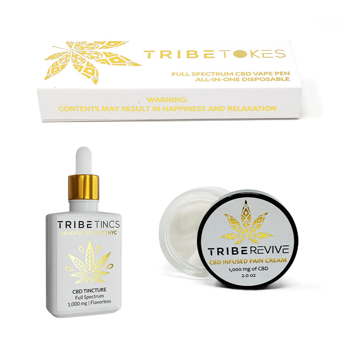 Good Night's Sleep Bundle: Indica Vape Pen + Extra Strength Pain Relief Cream + CBD Tincture (Save $40)