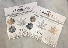 Load image into Gallery viewer, TribeTats Metallic Tattoos | Cannabis Collection