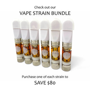 Full Spectrum CBD Vape Oil Cartridge | Half or Full Gram | 6 Strains