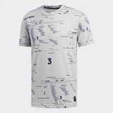 Adidas Adicross Allover Graphic Tee - Grey