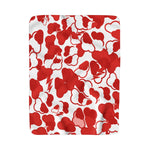 Blood Red Storm Camo Sherpa Fleece Blanket
