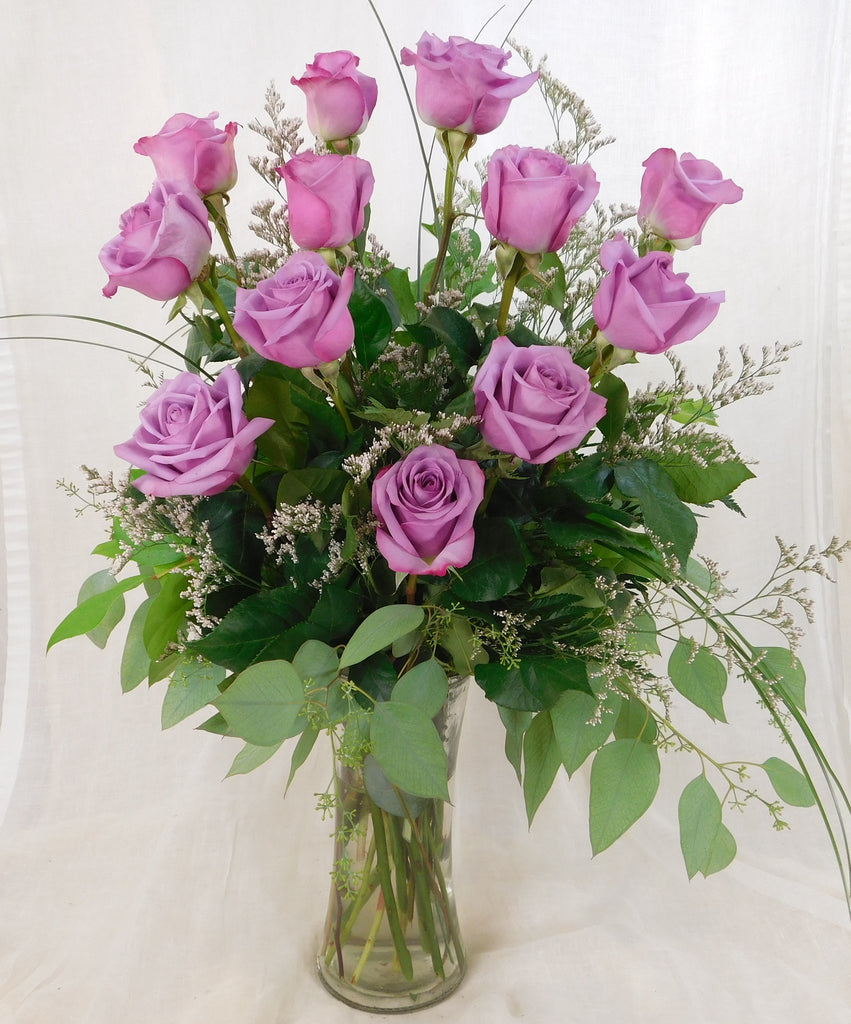 Dozen Long Stem Lavender Roses
