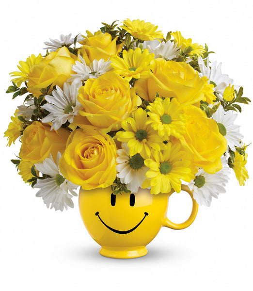 Be Happy Mug with Roses