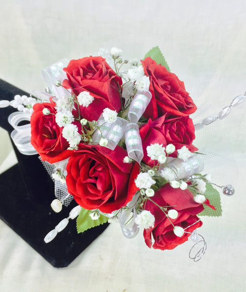 Red Rose Prom Corsage