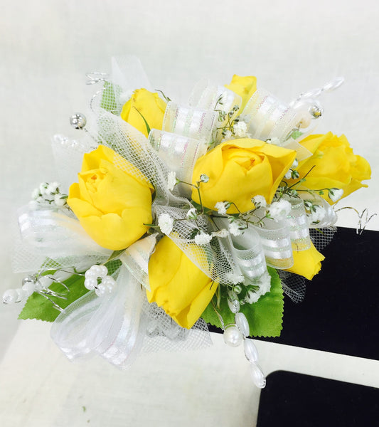 Yellow Rose Prom Corsage