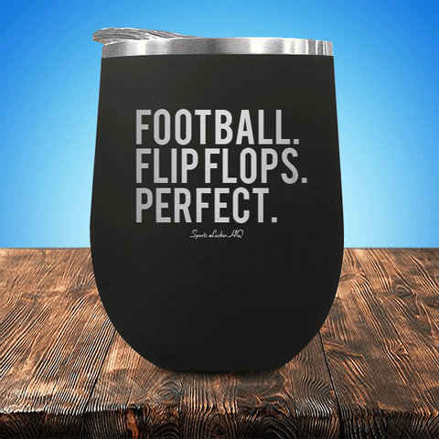 Football Flip Flops Perfect Stemless Wine Cup SA316